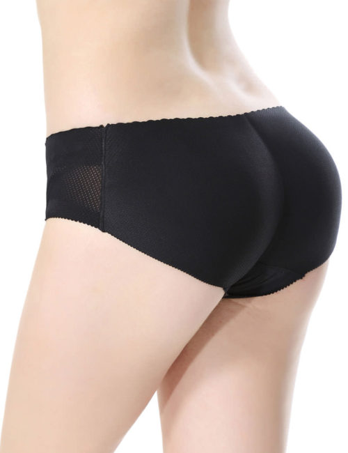 Everbellus Womens Padded Seamless Butt Hip Enhancer Panties Boy Shorts B1