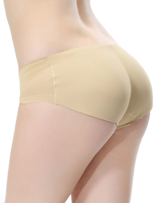 Everbellus Womens Padded Seamless Butt Hip Enhancer Panties Boy Shorts W1