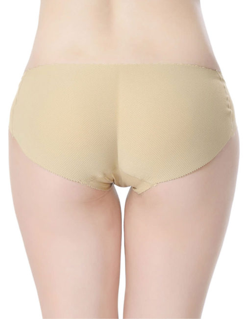 Everbellus Womens Padded Seamless Butt Hip Enhancer Panties Boy Shorts W2