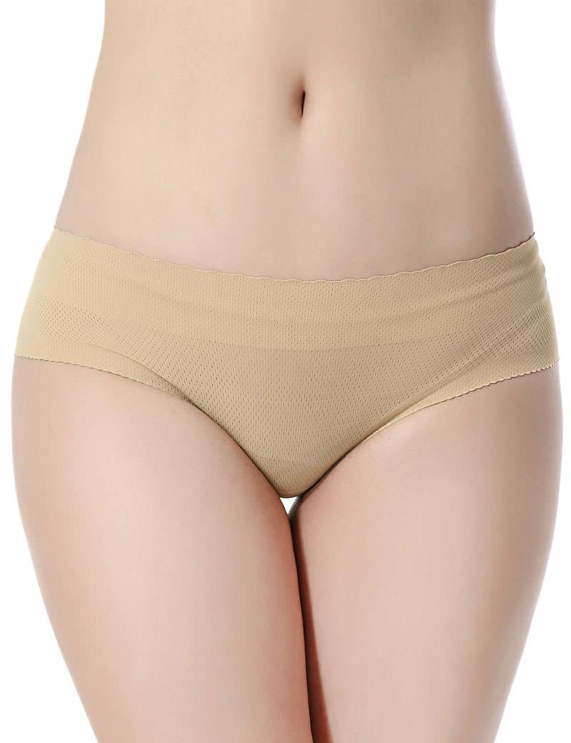 Everbellus Womens Padded Seamless Butt Hip Enhancer Panties Boy Shorts W3