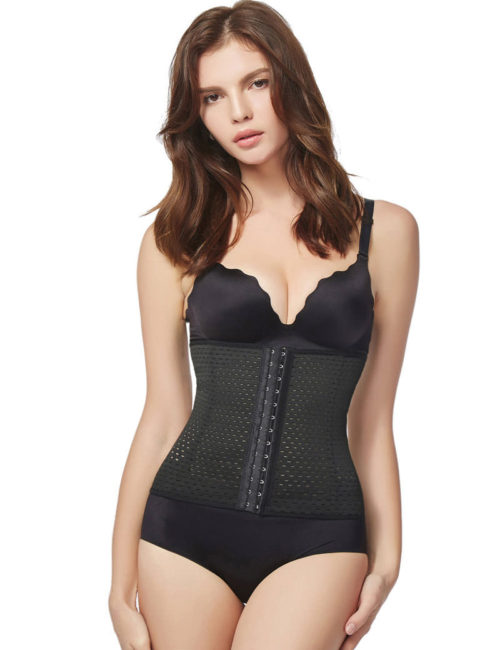 Everbellus Breathable Latex Corset Training Waist Cincher for Women B 1