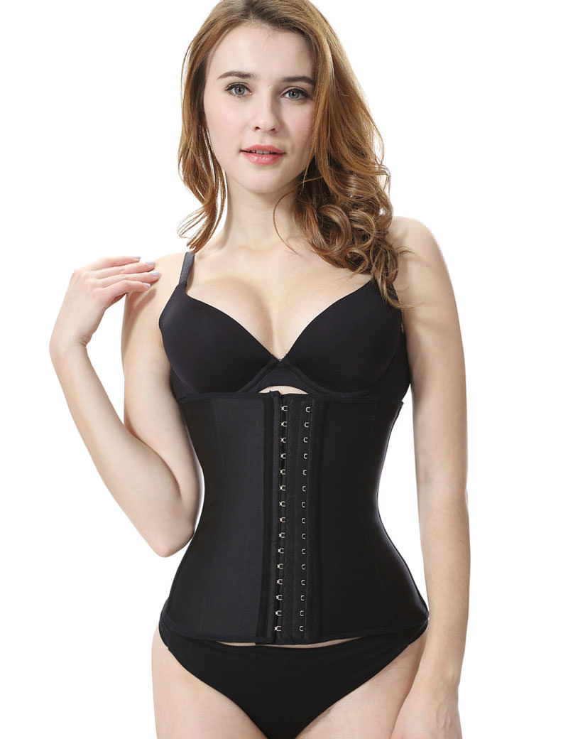 Everbellus Latex Waist Trainer Corset Hourglass Body Shaper for Women BK6