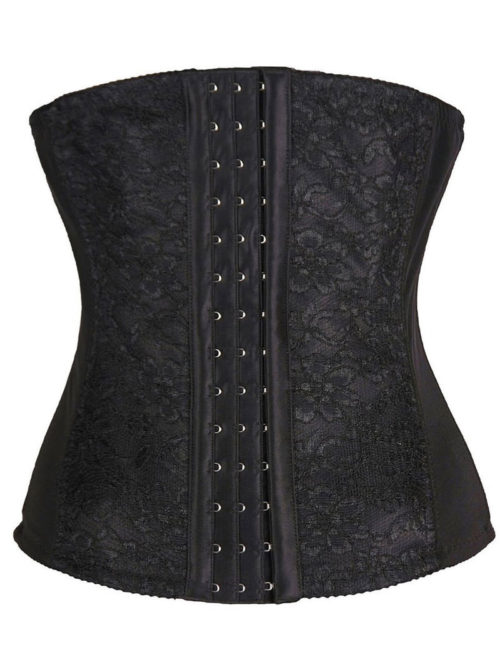 Everbellus Lace Waist Trainer Cincher 3 Hooks for Women B4