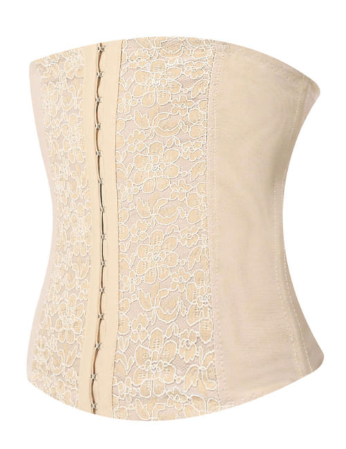 Everbellus Lace Waist Trainer Cincher 3 Hooks for Women W5