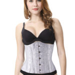 Everbellus Womens 26 Steel Boned Heavy Duty Waist Trainer Corset for Weight Loss 2W1