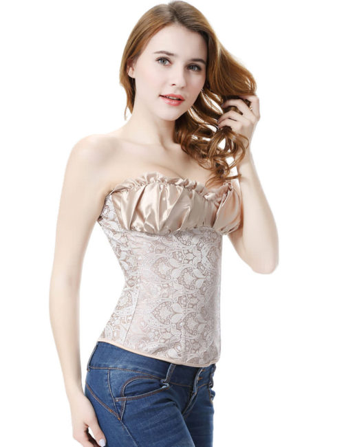 Everbellus Womens Princess Creamy Lvory Renaissance Overbust Corset Top I2