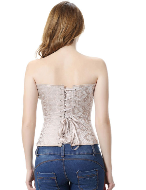 Everbellus Womens Princess Creamy Lvory Renaissance Overbust Corset Top I3