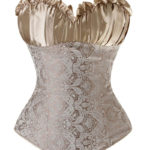 Everbellus Womens Princess Creamy Lvory Renaissance Overbust Corset Top I4