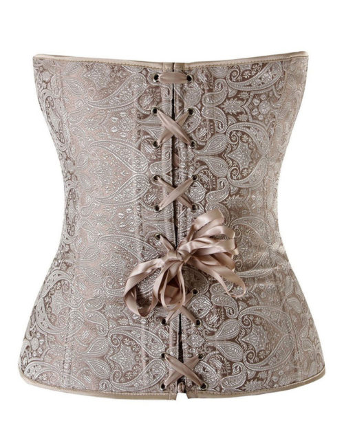 Everbellus Womens Princess Creamy Lvory Renaissance Overbust Corset Top I5