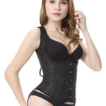 Everbellus Women Classic Patterns Underbust Corset Vest Cincher Shaper B2