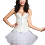 Everbellus Womens Zipper Front Corset Wedding Waist Corset Sexy Bustiers Top W1 1