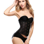 Everbellus Womens Breathable Waist Cincher Corset Steel Boned Shapewear B2