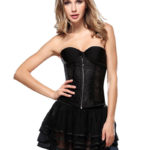 Everbellus Womens Breathable Zipper Waist Shaper Strapless Bridal Fashion Corset B1 1