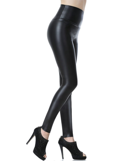 Everbellus Sexy Womens Faux Leather High Waisted Leggings B5 1