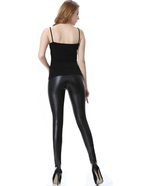 faux leather pants womens