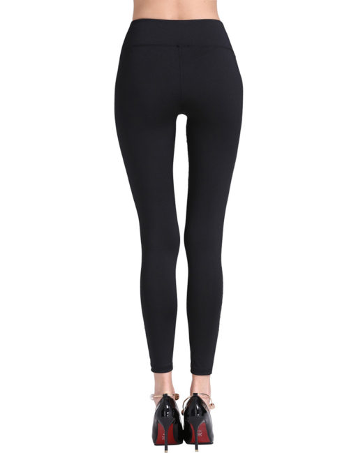 Everbellus Black Workout Leggings for Women High Waist Yoga Pants 3
