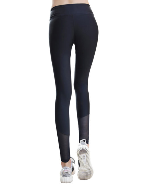 Everbellus Black Sport Leggings for Women High Waist Yoga Pants B2