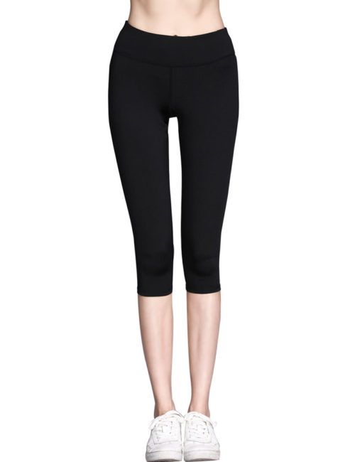 Everbellus Womens Workout Leggings High Waist Yoga Pants with Belt PocketB2