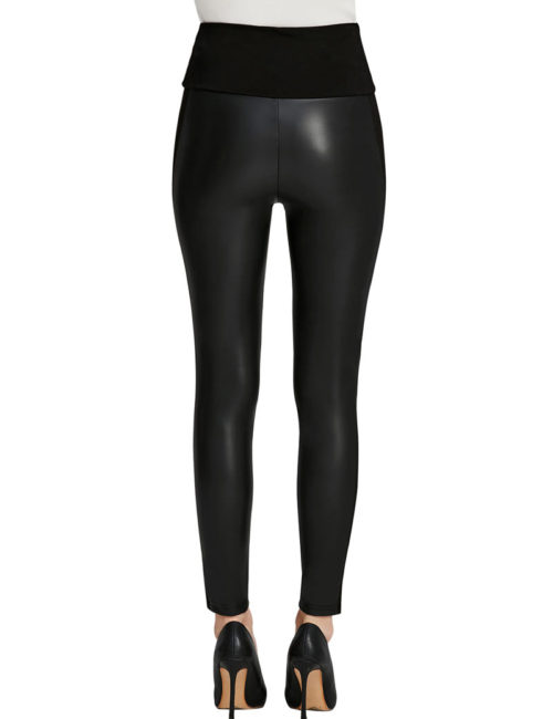 Everbellus Womens Black Faux Leather Leggings Girls High Waisted Sexy Leather Pants 3