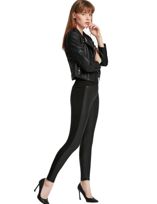 Everbellus Womens Black Faux Leather Leggings Girls High Waisted Sexy Leather Pants 5